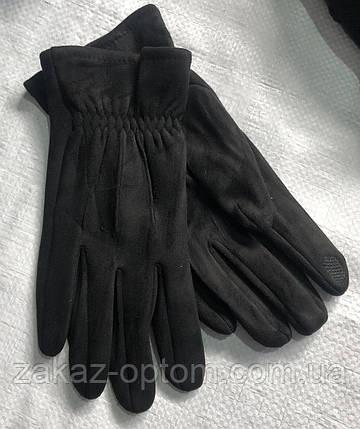 Перчатки мужские сенсор оптом внутри начес (10-12)Китай-63099, фото 2