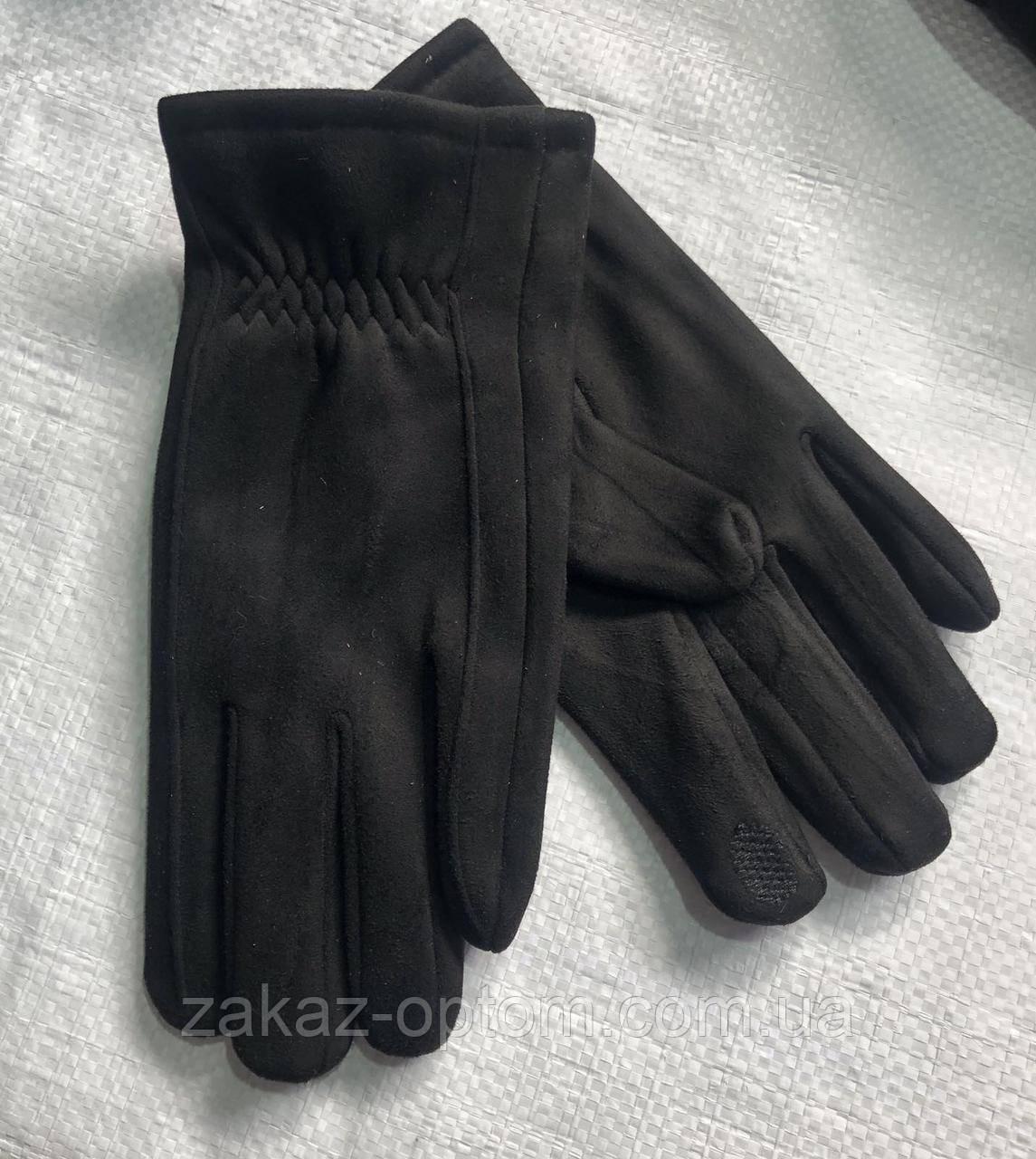 Перчатки мужские сенсор оптом внутри начес (10-12)Китай-63100