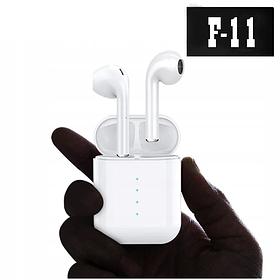 Беспроводные Bluetooth наушники в белом кейсе F11