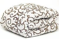 Теплое одеяло овечье полуторное 150*210 бязь_шерсть (2896), фото 1