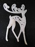 Украшения на елку игрушки 3D Олень длинные ноги 10 шт 14*8 см, фото 2