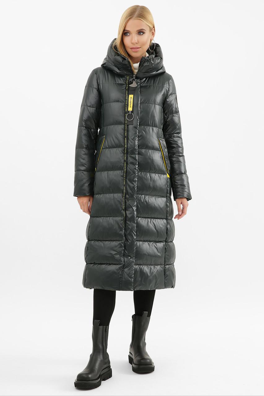 Длинное стеганое зимнее пальто на тинсулейте от 42 до 52