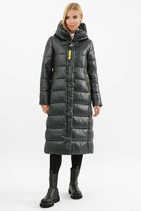 Длинное стеганое зимнее пальто на тинсулейте от 42 до 52, фото 2