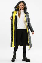 Длинное стеганое зимнее пальто на тинсулейте от 42 до 52, фото 3