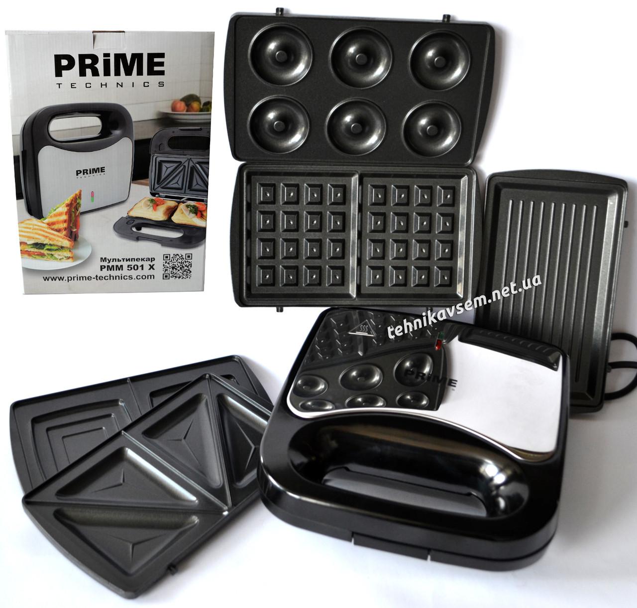 Сендвичница Prime Technics PMM 501 X (5 в 1)