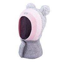 Зимняя шапка-шлем для девочки  TuTu арт. 3-005218 (42-46, 46-50), фото 1