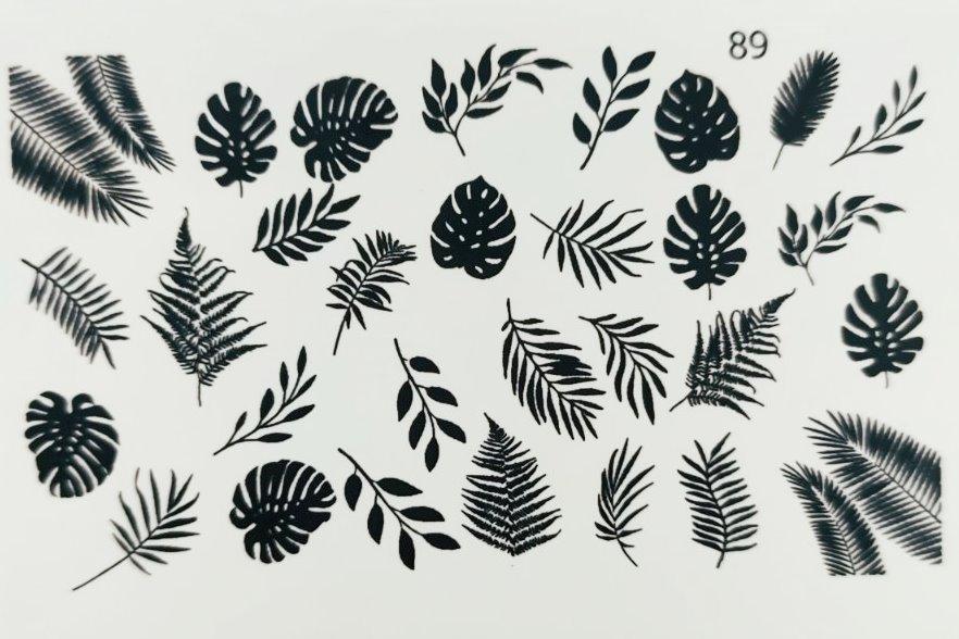 Водные наклейки (слайдер дизайн) для ногтей 89
