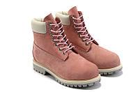 Женские ботинки Timberland розовые