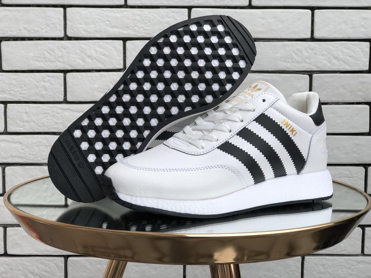 Женские зимние кроссовки Adidas Iniki (белые) 9951