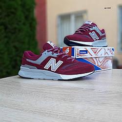 Мужские рефлективные кроссовки New Balance 997 H (бордовые) 10307