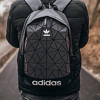 Спортивный городской рюкзак Adidas Bags Mate Reflective (черно-серый) 515KN