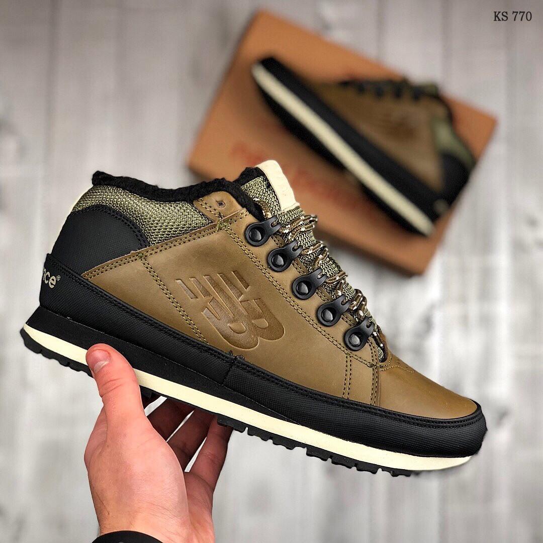 Мужские зимние ботинки New Balance 754 (темно-зеленые) KS 770