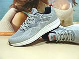 Мужские кроссовки BaaS Running - 3 светло-серые 44 р., фото 3