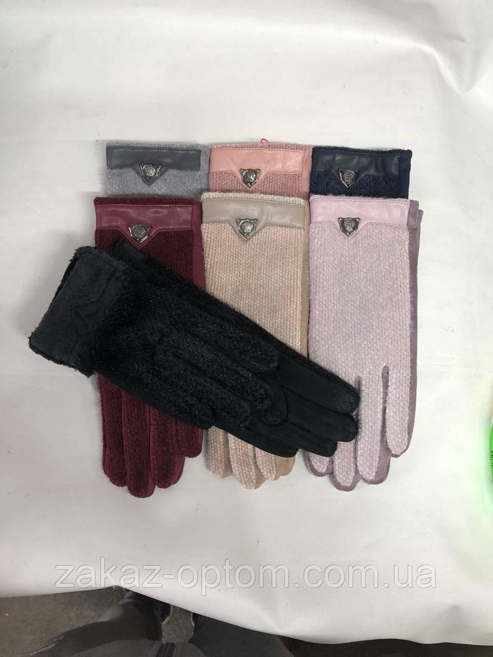 Перчатки женские сенсор оптом внутри мех (6,5-8,5) Китай-63137