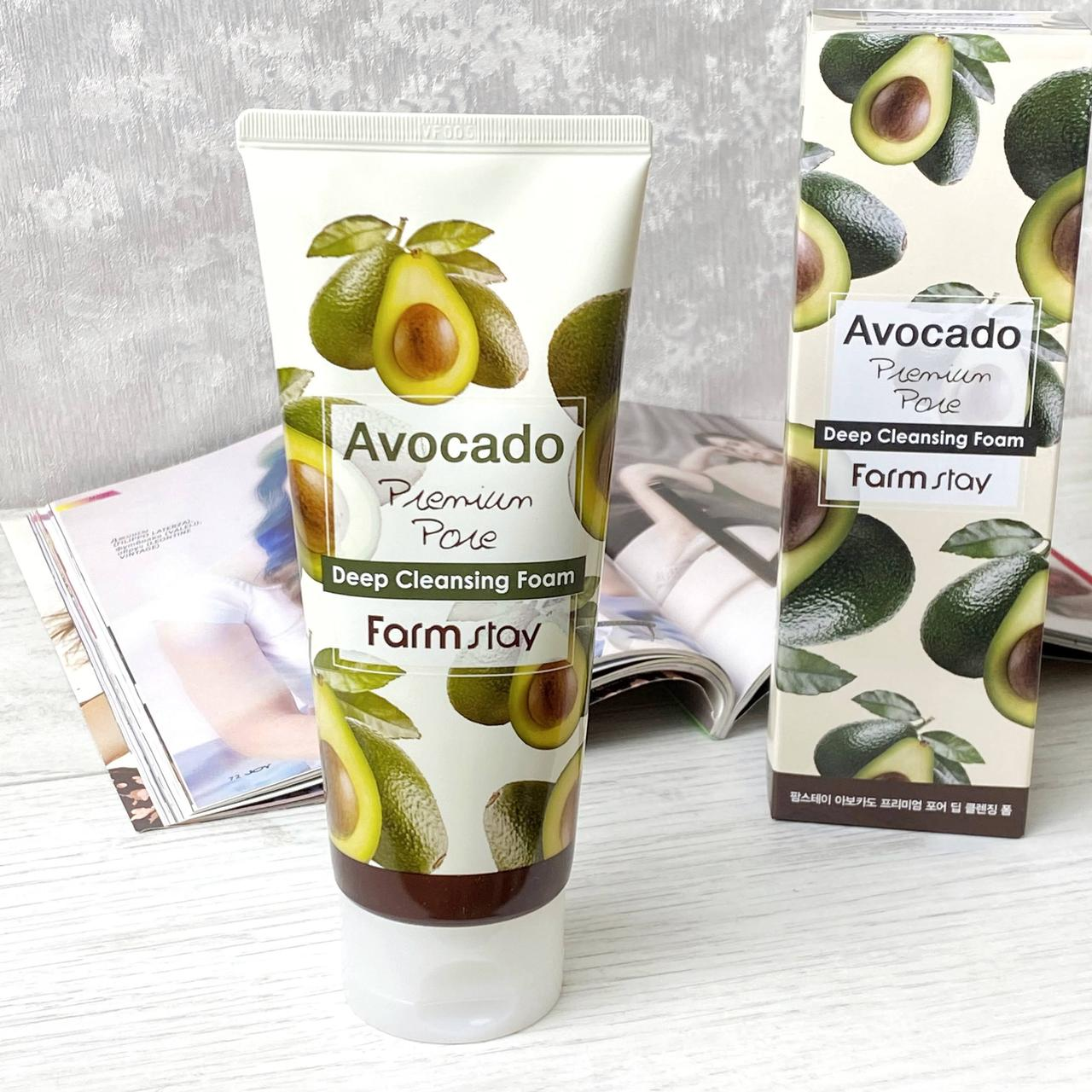 Пенка для умывания FarmStay Avocado Premium Pore Deep Cleansing Foam