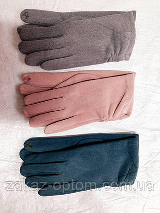Перчатки женские сенсор оптом внутри  начес (6,5-8,5) Китай-63144, фото 2