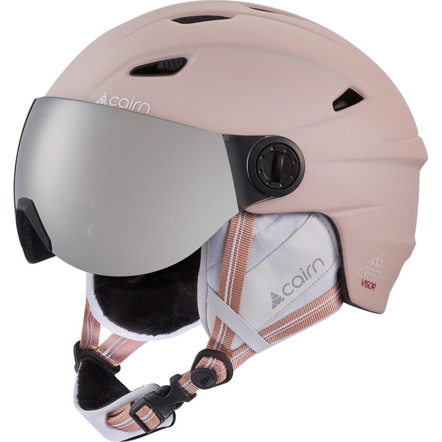Женский защитный шлем для лыж / сноуборда Cairn Electron Visor SPX3 powder pink 55-56