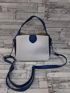 Стильная двухцветная сумка с двумя ремнями 22*20 см