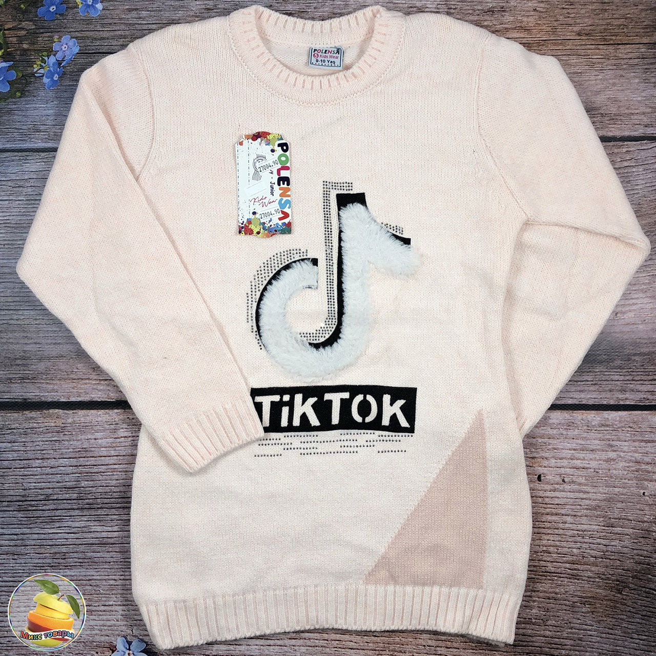 """В'язана туніка """"Тік Ток"""" для дівчинки Розмір: 9-10,11-12,13-14 років (21069)"""