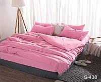 Комплект постельного белья Розовый Сатин-люкс Полуторный