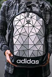 Спортивный городской рюкзак Adidas Bags Mate Silver (черно-серый) 514KN