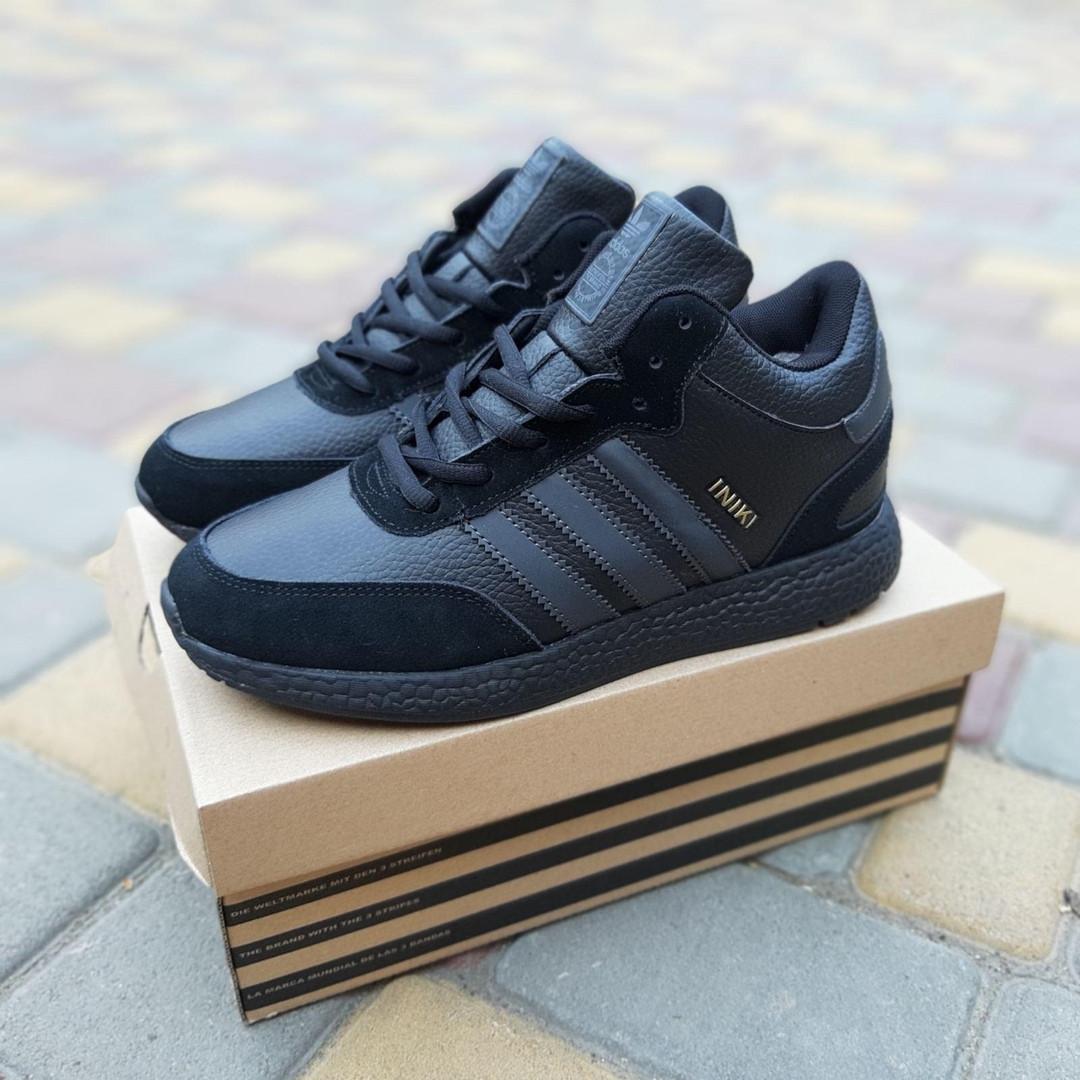 Мужские зимние ботинки Adidas INIKI (черные) 3551