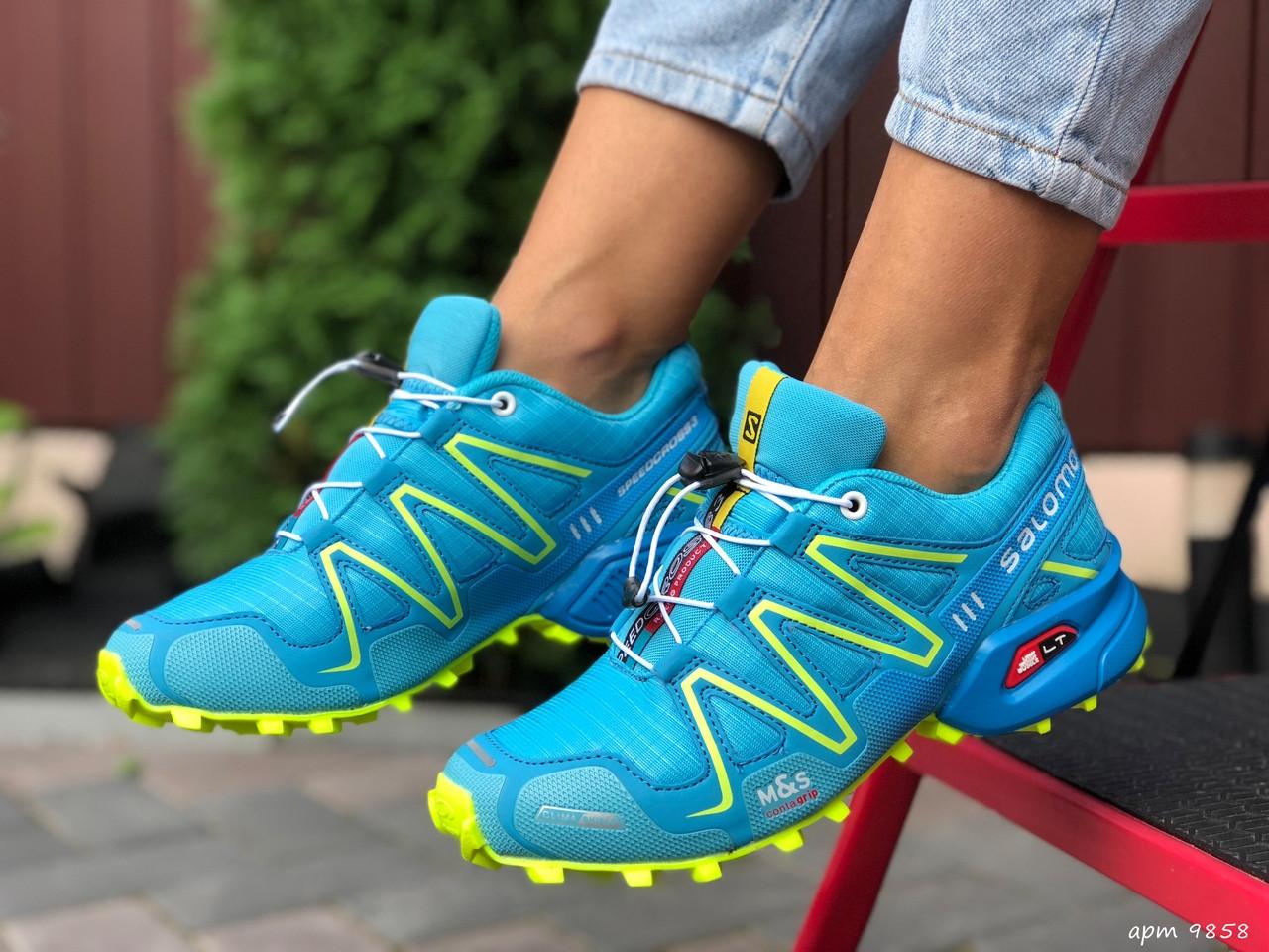 Женские кроссовки Salomon Speedcross 3 (лазурный) 9858