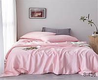 Комплект постельного белья Нежно-Розовый Сатин-люкс Полуторный