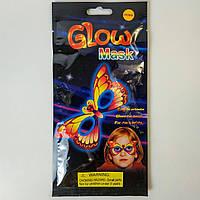Неонова світиться маска Метелик Glow Mask, фото 1