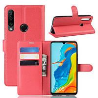 Чехол-книжка Litchie Wallet для Huawei P30 Lite / Nova 4e Red