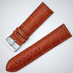 24 мм Шкіряний Ремінець для годинника CONDOR 521.24.03 Коричневий Ремінець на годинник з Натуральної шкіри