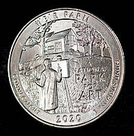 Монета США 1/4 доллара 2020 г. Ферма Дж. А. Вейра в Коннектикуте, фото 1