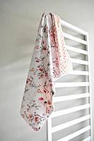 """Плед детский на плюше минки двусторонний одеяло покрывало """"Цветочное настроение"""" 75*100см"""
