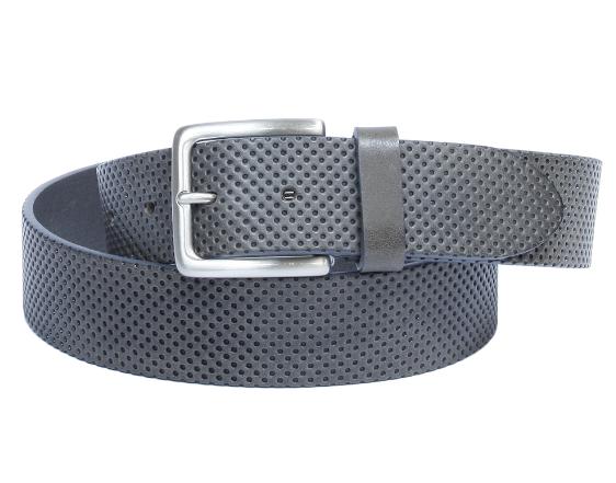 Ремень кожаный 7003 grigio серый