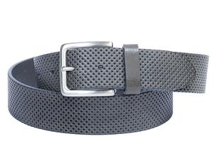 Ремень кожаный 7003 grigio серый, фото 2