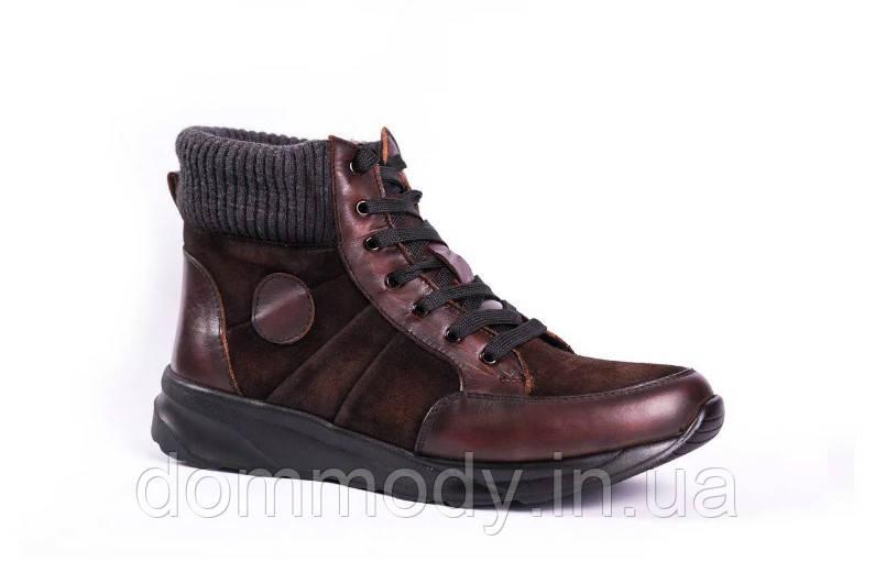 Ботинки мужские Fashionable brown зимние