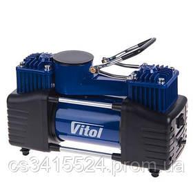 "Компрессор ""ViTOL"" K-72 150psi/25Amp/90л/2 цилиндра/шланг 5,0м с дефлятором/клеммы (K-72)"