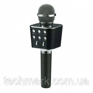 Микрофон-Караоке беспроводной Bluetooth WSTER WS-1688 Black
