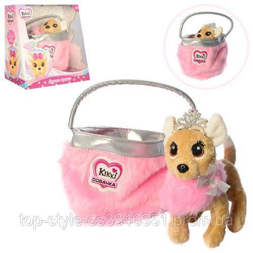 Игрушечная собачка в сумочке для девочки M 3481