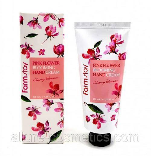 Крем для рук Вишня Farm Stay Pink flower Blooming Hand cream Cherry Blossom