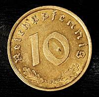 Монета Германии 10 рейхспфеннигов 1938 г., фото 1