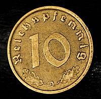 Монета Германии 10 рейхспфеннигов 1937 г., фото 1