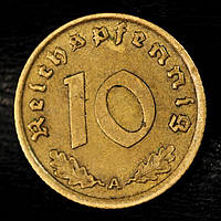 Монета Германии 10 рейхспфеннигов 1939 г., фото 1