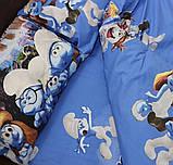 Детское полуторное постельное белье Смурфики, фото 2