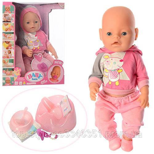 Детский игрушечный пупс baby born (9 функций) 8006-456