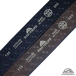 Ремень кожаный Tony Perotti 300 moro коричневый, фото 2