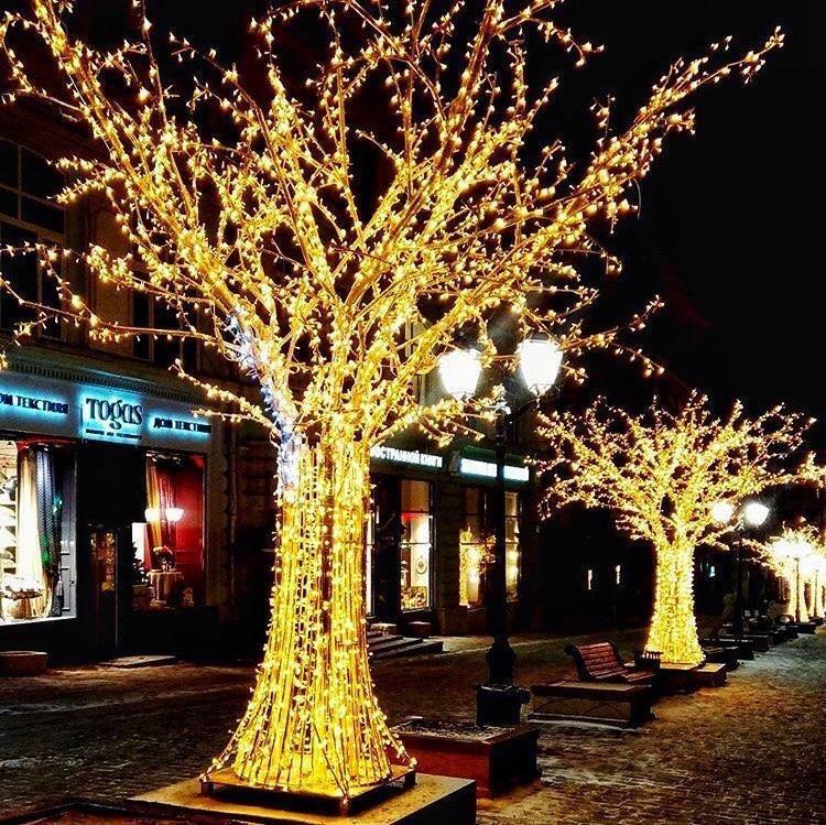 Гирлянда на улицу Нить 10м желтый \ теплый белый