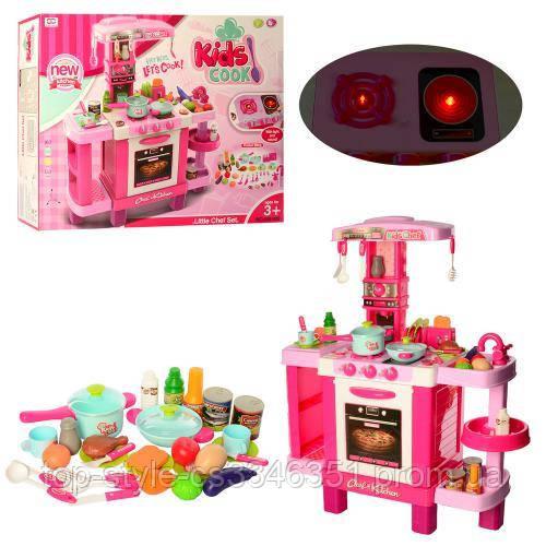 Детская игровая кухня для девочки розовая