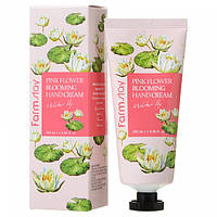 Крем для рук Лилия Farm Stay Pink flower Blooming Hand cream Water Lily
