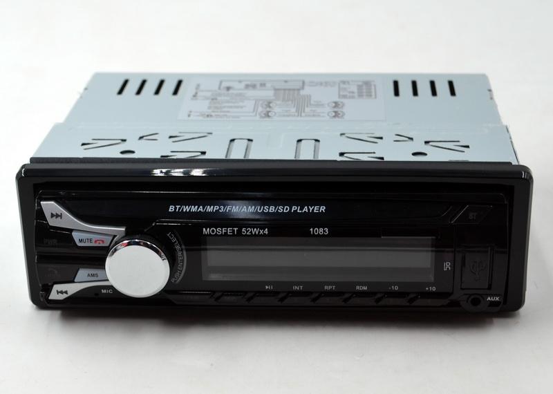 Автомагнитола Pioneer 1083, съемная панель MP3 + USB + AUX + FM